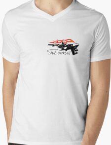 Cartoon bomber Mens V-Neck T-Shirt