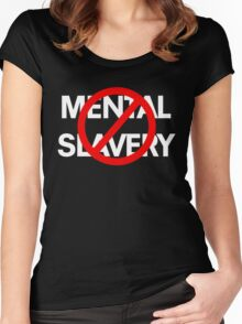 Mental Slavery WHT Women's Fitted Scoop T-Shirt
