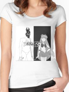 Death Grips with sailor venus as the girl instead of  Women's Fitted Scoop T-Shirt