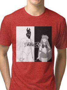 Death Grips with sailor venus as the girl instead of  Tri-blend T-Shirt