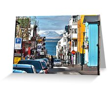 Streets of Reykjavik Greeting Card