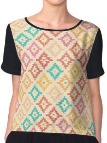 Colorful geometric pattern. Chiffon Top