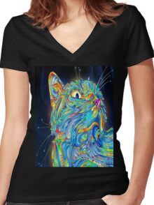My Cat Women's Fitted V-Neck T-Shirt