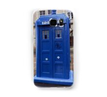 Glasgow, Scotland Blue police box  Samsung Galaxy Case/Skin