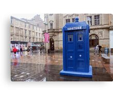 Glasgow, Scotland Blue police box  Canvas Print