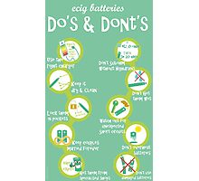Vape Design Do's and dont's Batteries Photographic Print