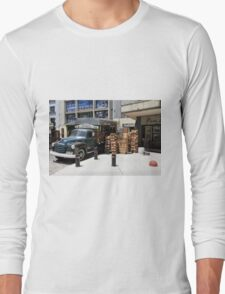"1950 Chevy 3100 Truck ""Fruits & Vegetables"" in Montevideo Long Sleeve T-Shirt"