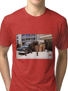 """1950 Chevy 3100 Truck """"Fruits & Vegetables"""" in Montevideo Tri-blend T-Shirt"""
