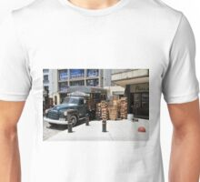 """1950 Chevy 3100 Truck """"Fruits & Vegetables"""" in Montevideo Unisex T-Shirt"""
