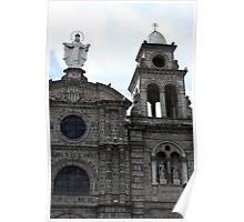 Virgin Mary and Bell Tower Poster