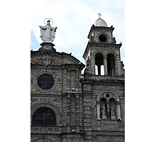 Virgin Mary and Bell Tower Photographic Print