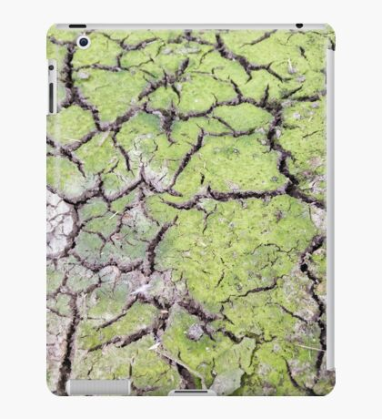 environmental concept, Water shortage and drought Dry cracked mud iPad Case/Skin