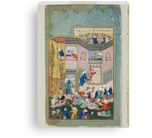 Sultan Muhammad, Allegory of Worldly and Otherworldly Drunkenness,  Canvas Print