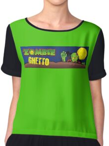 ZOMBIE GHETTO OFFICIAL ARTWORK DESIGN T-SHIRT Chiffon Top