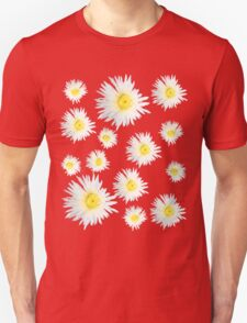 White Succulent Wildflower Unisex T-Shirt