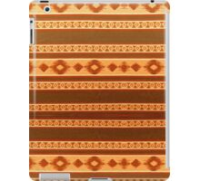 Tribal Pattern, Native American, Indian, Orange and Brown iPad Case/Skin