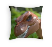 Lego Jurassic Park T-Rex Throw Pillow