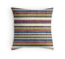 Tribal, Abstract Horizontal Stripes Patterns Throw Pillow
