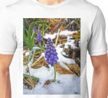 Grape Hyacinth in the Snow Unisex T-Shirt