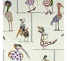 Tribal, Fun Bird Critters Photographic Print