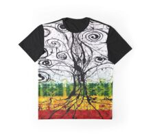 Rasta Tree Graphic T-Shirt