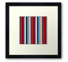 Tribal, Abstract BOLD Stripes, Color Pattern Framed Print