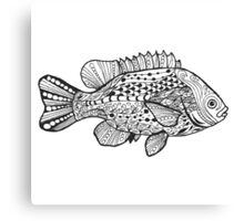 Fish with doodle pattern Canvas Print