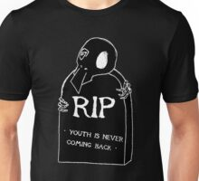 DEAD YOUTH Ⓡ / youth is never coming back ~ BLACK Ver. Unisex T-Shirt