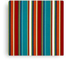 Tribal, Geometrical All Color Stripes Canvas Print