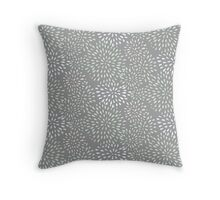 Flower Bursts - Dark Throw Pillow