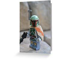 Lego Star Wars Boba Fett Greeting Card