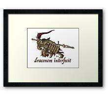The Dragon Slayer Framed Print