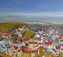 Staithes Panorama Sticker