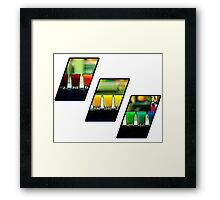Three Shots Framed Print