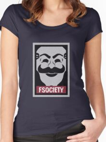 fsociety.at Women's Fitted Scoop T-Shirt