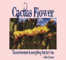 Prickly Pear Cactus Flowers and the Environment Kids Tee