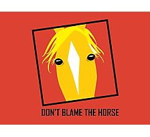 DON'T BLAME THE HORSE Photographic Print