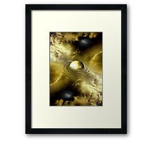 yellow energy Framed Print