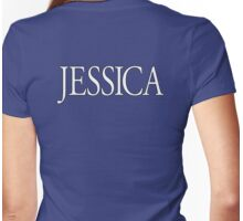 Jessica, Jess, Jessie, Girl, Name, Tag, 1980's, 1990's, 2000, Womens Fitted T-Shirt