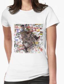 male figure Womens Fitted T-Shirt