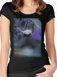 lavender reflection  Women's Fitted Scoop T-Shirt