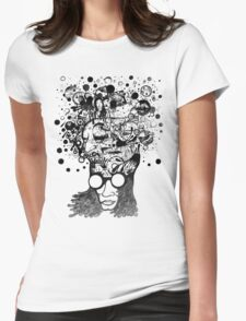 Bubbling Mind (Black) Womens Fitted T-Shirt