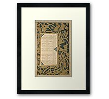 Rosary of the Devout of Jami Framed Print