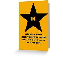 16 Tony Nominations Greeting Card