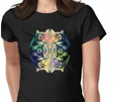Coloured Cat Womens Fitted T-Shirt
