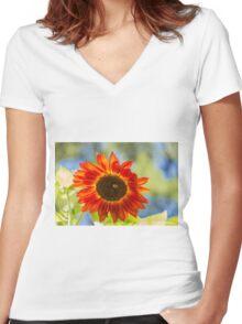 Sunflower 5 Women's Fitted V-Neck T-Shirt