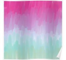 Colorful Brushstrokes Gradient Poster