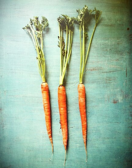 Three Carrots by Olivia Joy StClaire