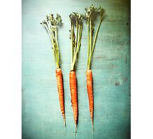 Three Carrots Photographic Print