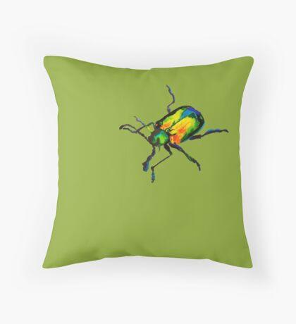 Dogbane leaf beetle Throw Pillow